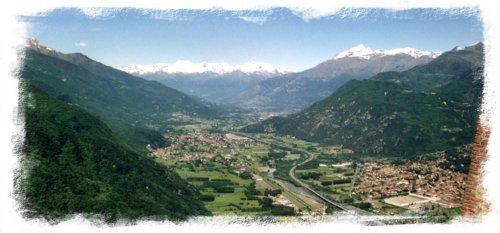 Immagine di copertina della studio: veduta di infilata della Valle di Susa